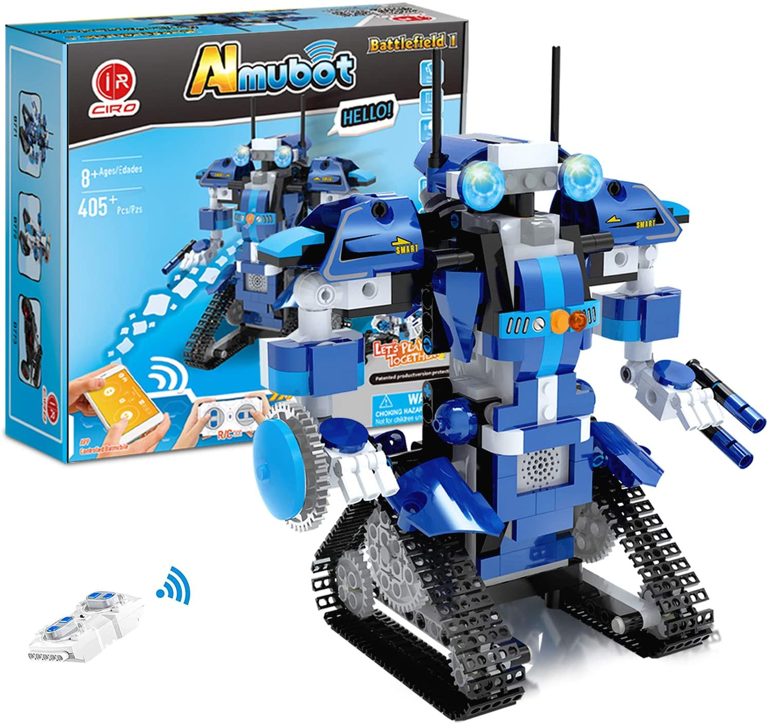 Remote & APP Controlled STEM Learning Educational Science Building Toys for Kids Ages 8+