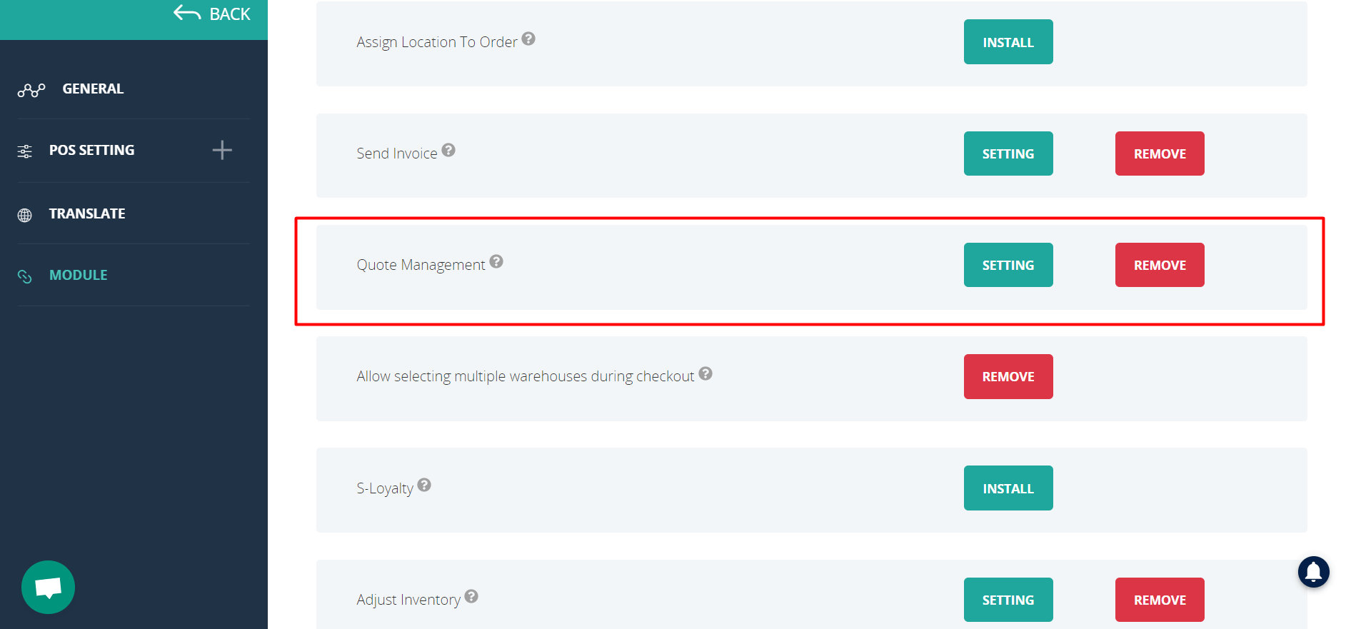 quote management module connectpos