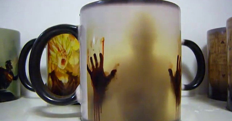 Zombie color-changing mugs