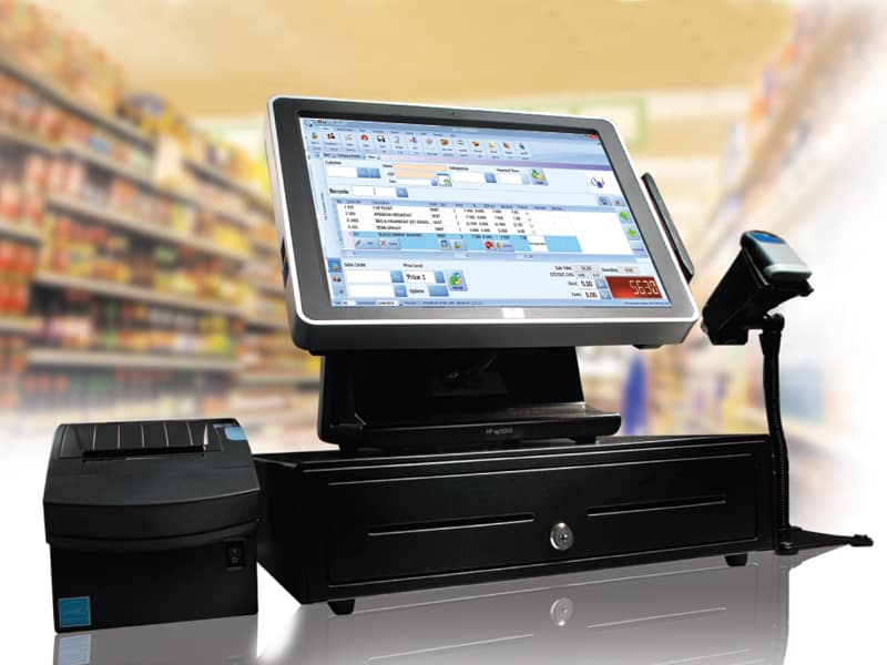 A retail POS system