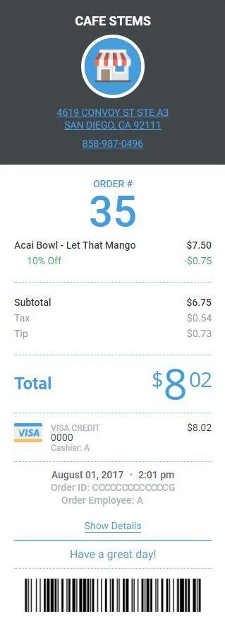 online receipt template