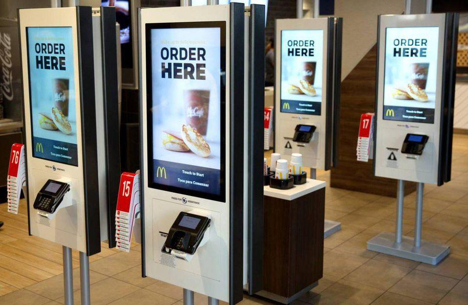 Self-service kiosk at McDonald's