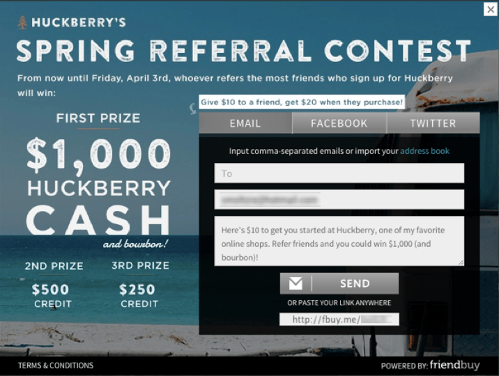 Best Referral Program Ideas: referral contest