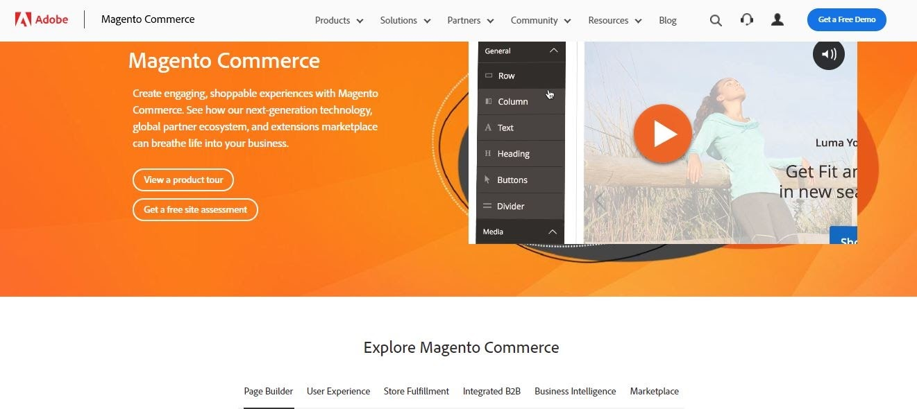 Magento interface