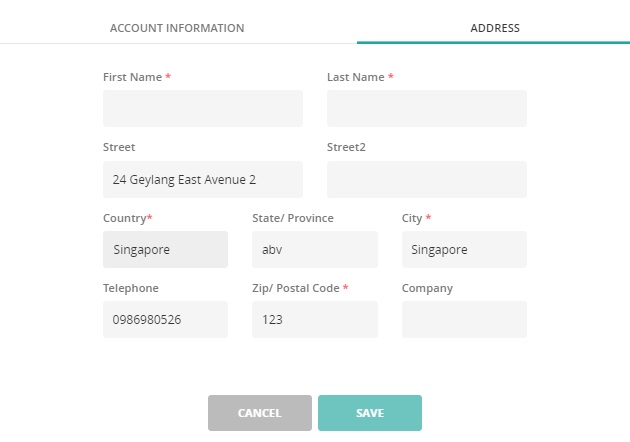 save address