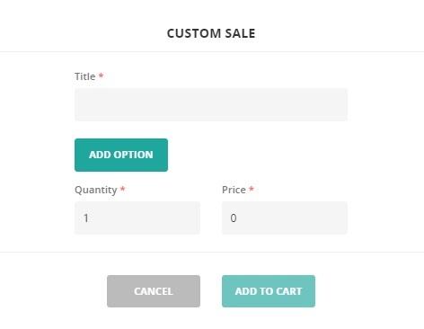 custom sale