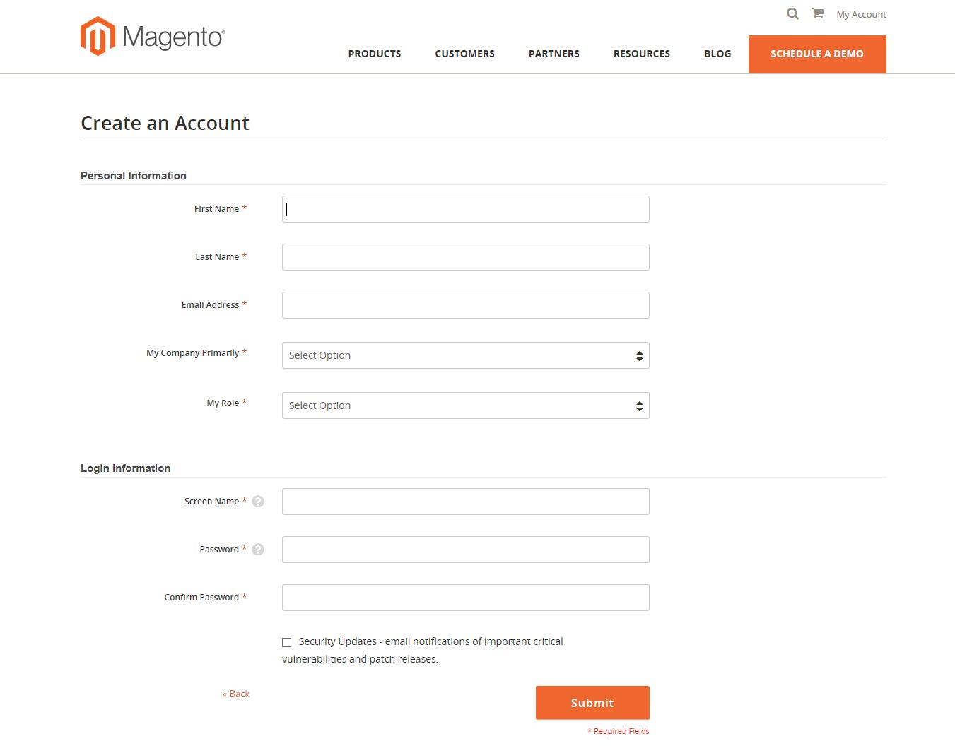 magento tutorial: create an account