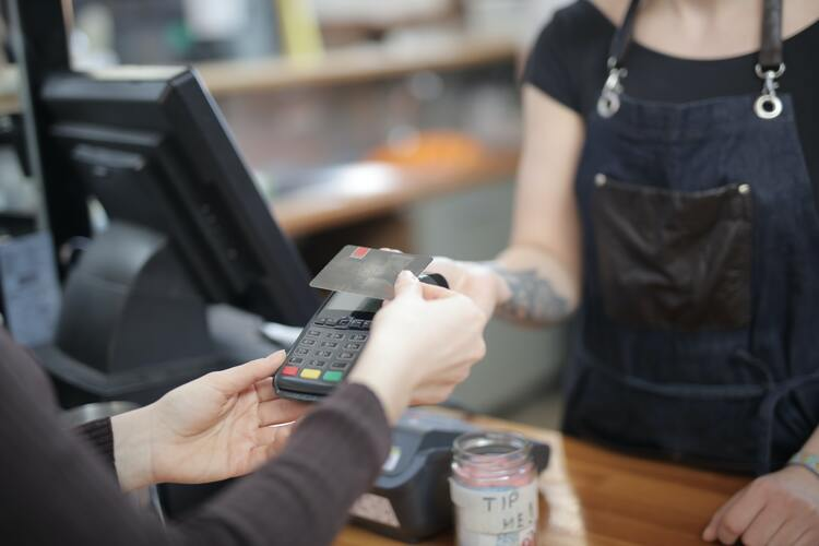 POS devices in checkout counter