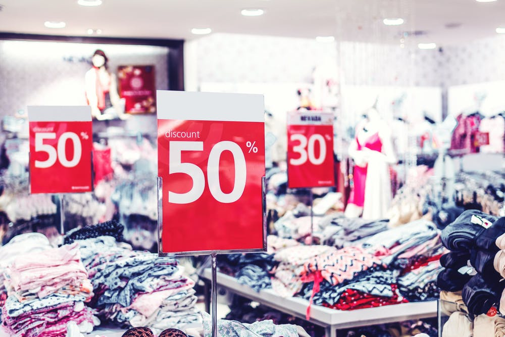types of discount - percentage