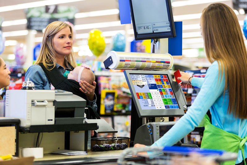 In a retail store, a transaction starts when a customer brings his/her items to the POS terminal