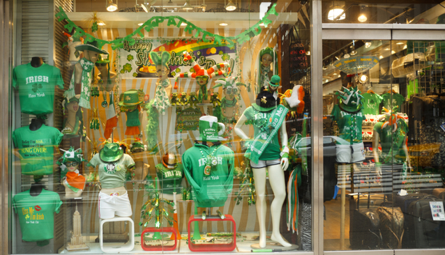 St. Patrick's Day store decoration