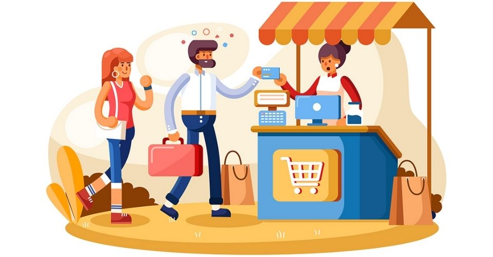 point of sale system illustration