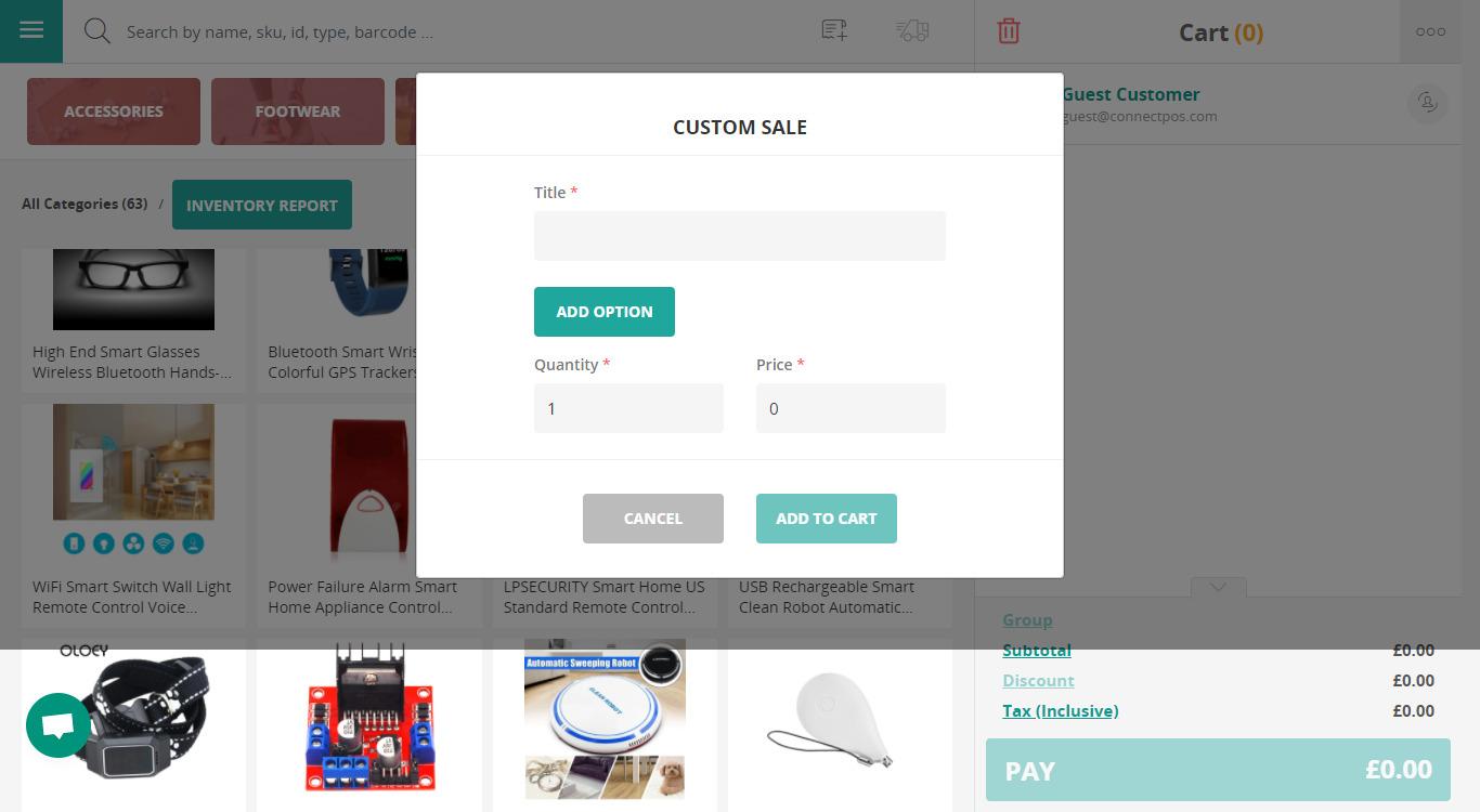 What is Custom sales?