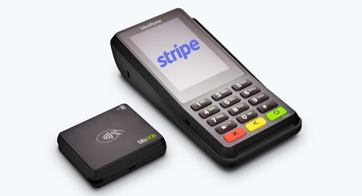 pos swipe machine - stripe here