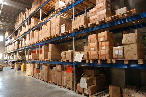 Use tall shelving racks