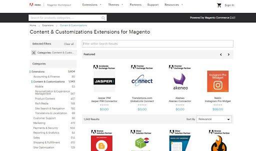 Commercetools vs Magento: App Store